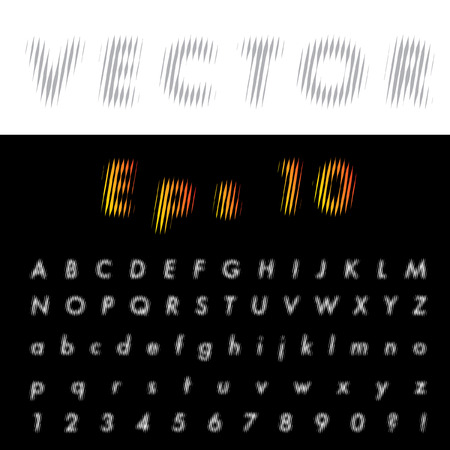 dimly: original vector font with strips  Illustration