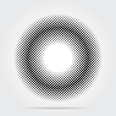 vector abstract background with halftone ring Vector