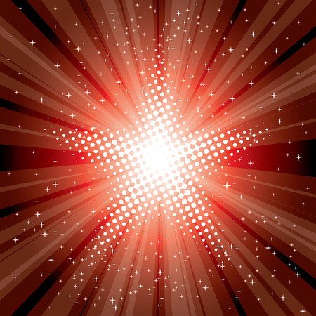 vector abstract background with red starburst Vector