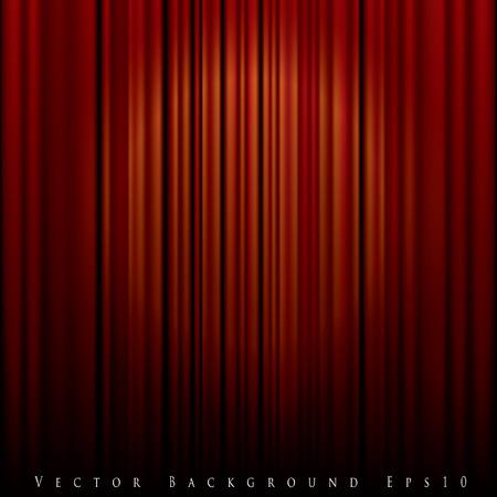 luz focal: vector de fondo con la luz del punto en la cortina roja