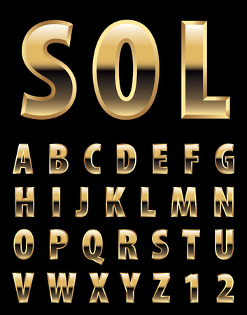 sol: Golden alphabets Illustration