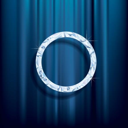 terciopelo azul: resumen de antecedentes, anillo de diamantes en el terciopelo azul