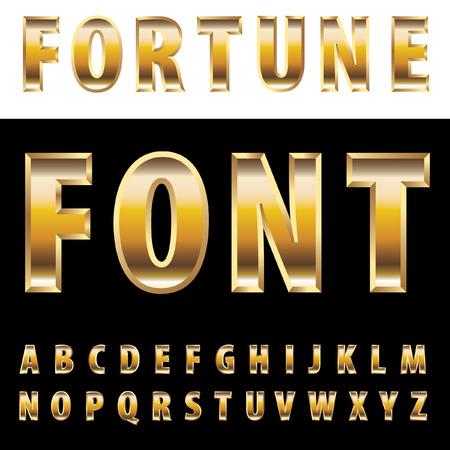 lingot or: vecteur alphabet avec des lingots d'or