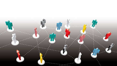 medium group of people: vector symbolic illustration for social network