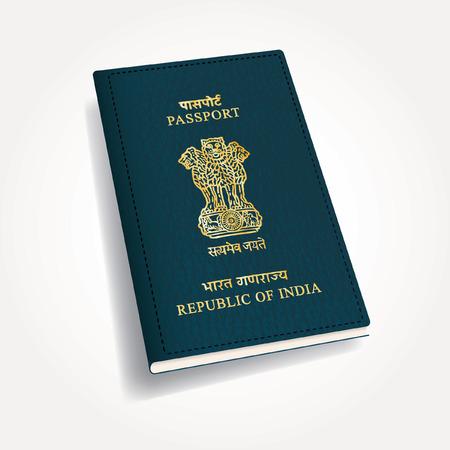 passaporto: vettore passaporto indiano Vettoriali