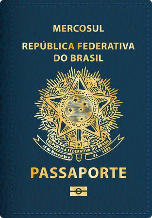 벡터 브라질 여권 커버 일러스트