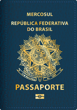 vector Brazilian passport cover