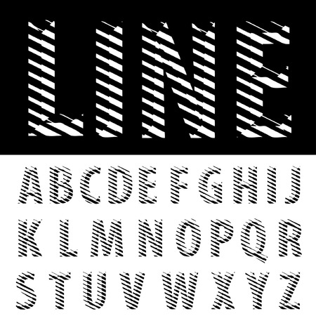 dimly: original vector font with strips