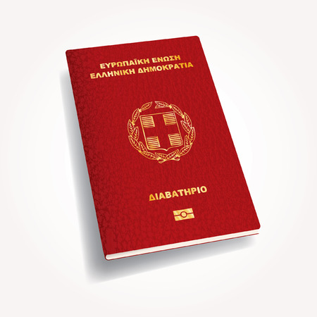 biometric: vector Greece biometric passport cover Illustration