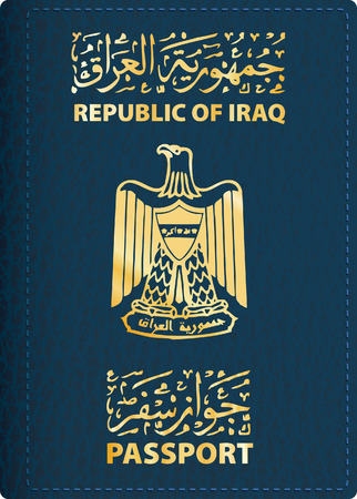 vector cover of Iraqi passport