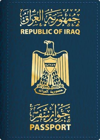 vector cover van Iraakse paspoort Stock Illustratie