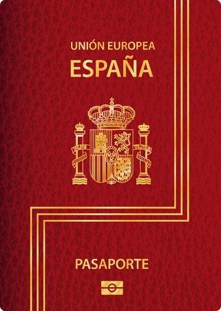 vecteur passeport biométrique espagnol