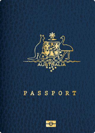 passaporto: Vector Copertina passaporto australiano