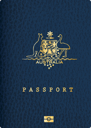 vector Australian passport cover