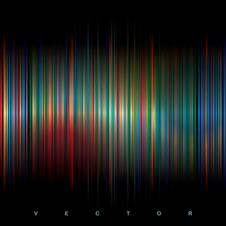 vector abstract stripped background with color spots Vector