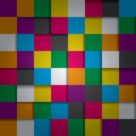 abstract seamless repeating background with color squares Vector