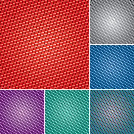 quadrant: set of vector abstract geometric backgrounds with cubes