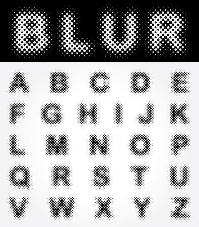 original dotted raster font Vector
