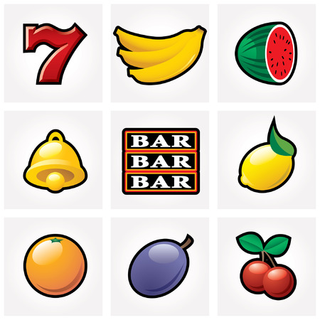 fruit bars: vector slot machine icons