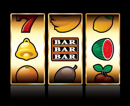 vector icons at slot machine