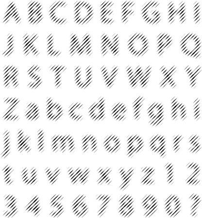 dimly: vector dimly halftone alphabet