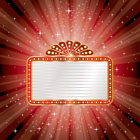 vector red starburst with blank billboard