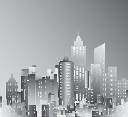 abstract city skyscrapers Vector