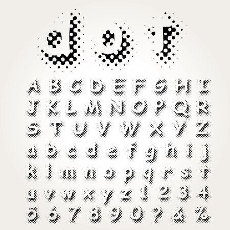 darkly: vector dotted raster font