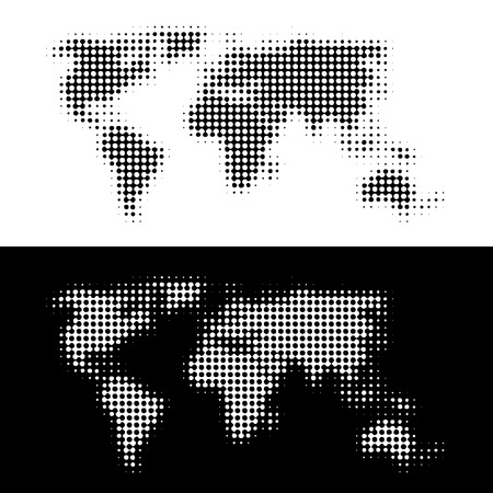 dimly: vector dotted world map Illustration