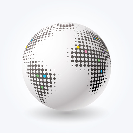 dimly: vector globe icon with dots