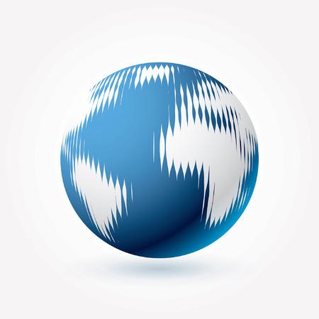 dimly: vector simple linear blue world icon