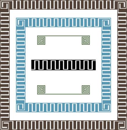 meander: vector meander frames Illustration
