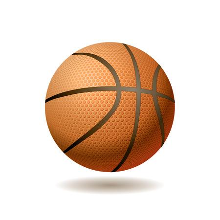 baloncesto: vector ilustraci�n realista de la bola del baloncesto Vectores