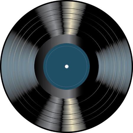 Disque vinyle vierge Banque d'images - 36423833
