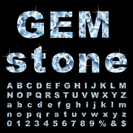 gemstone: vector gemstone alphabet