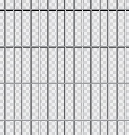 rejas de hierro: vector de fondo con barras de la cárcel