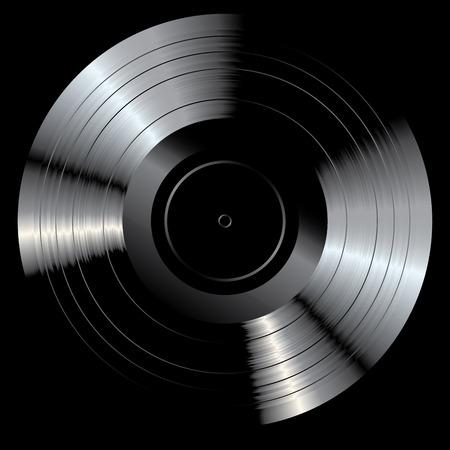 vector blank black LP vinyl record