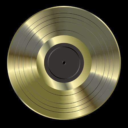 Vector realista de la ilustración en blanco de oro LP Foto de archivo - 37633898