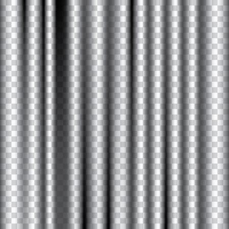 vector bewerkbare transparante gordijn Stock Illustratie