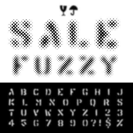 darkly: vector original dotted halftone raster font
