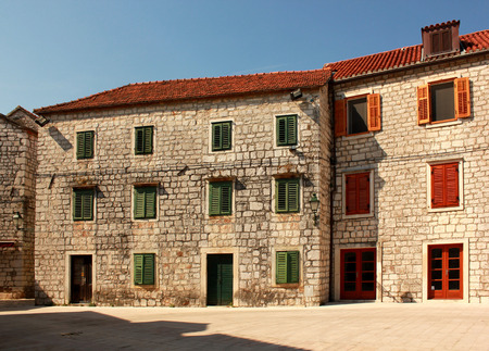 grad: old mediterranean town Stari Grad on Hvar island