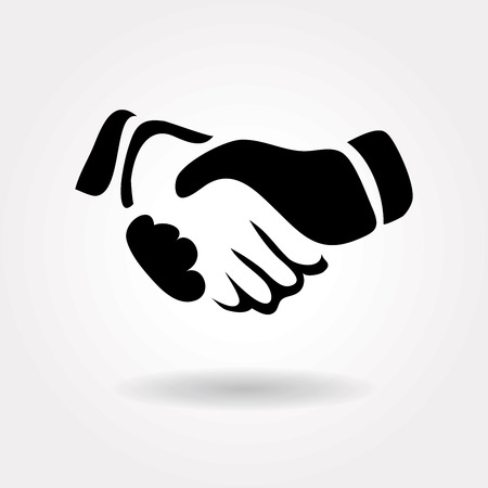 black handshake: handshake icon