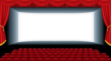 vector illustration of the empty cinema auditorium
