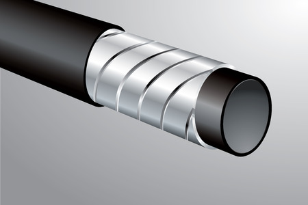 high pressure: vector section of the pipeline for high pressure Illustration