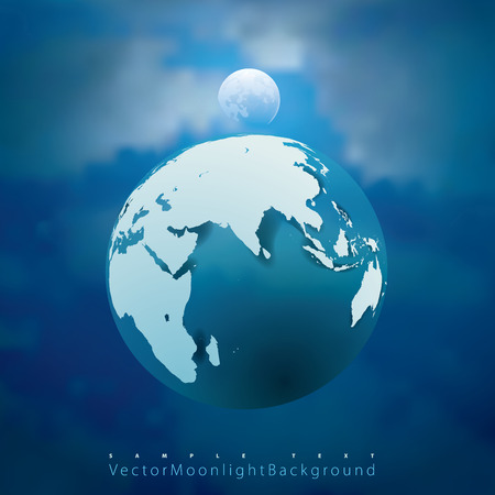 layered sphere: abstract vector illustration with Earth and Moon Illustration
