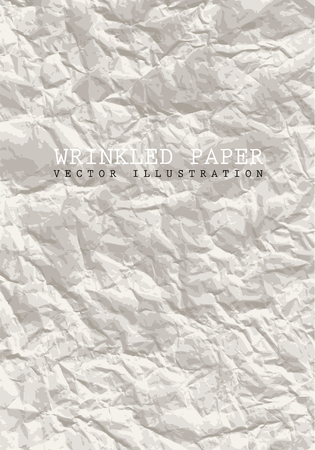 wrinkled paper: vector wrinkled paper background like stone texture