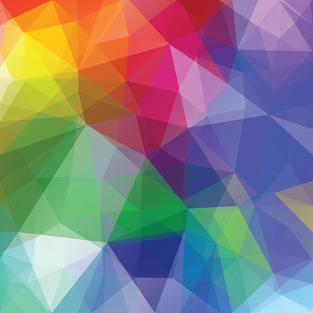 abstract vector background with colorful triangles Stock Vector - 50058276
