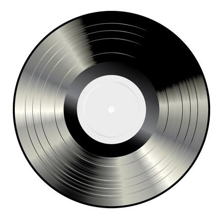 lp: vector blank white label LP vinyl record