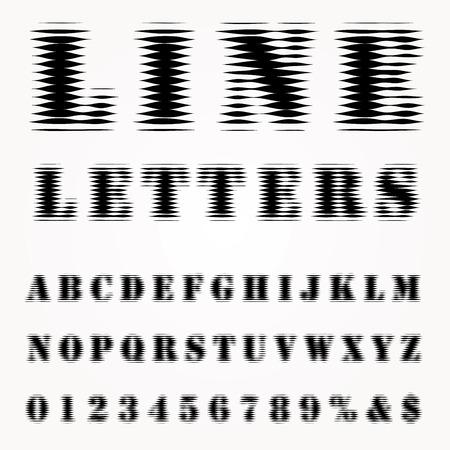 darkly: vector hazy line font