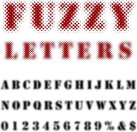 raster: original dotted raster font Illustration